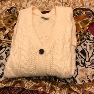 GAP cable knit cardigan, cream color